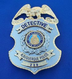 Detective, Albuquerque Police, New Mexico (CMH Albuquerque) Albuquerque Police, New Mexico Albuquerque, Albuquerque News, Law Enforcement Badges, California Highway Patrol, State Police, Shadow Box, Detective, Tactical Knives