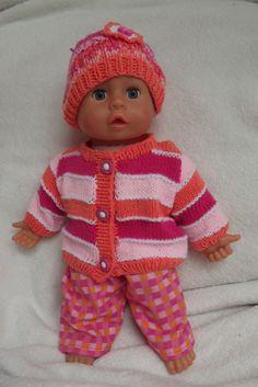 """Oblečky pro panenky - \""""Slaďoučký bonbon\"""" Baby Born, Knitted Dolls, Doll Clothes, Knit Crochet, Knitting, Mini, Sweaters, Fashion, Knits"""
