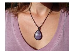 Dreamy Charoite Necklace/Cosmic Heart/Russian by GaiasGiftsToUs