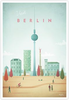Berlin Vintage Travel Poster by Henry Rivers- Berlin Vintage Travel Art Print