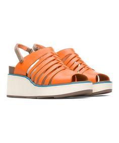 G Orange Brogues Flat Irregular Choice Dreamy Day Low Heel Shoes