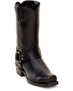 Mens 11 Western Classic Harness Boots - Oiled Black yesssss