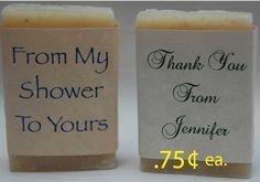 Bridal Shower Favor-Baby Shower Favors-Soap Party Favors-Wedding Favors- 24, 1 oz handmade soap favors. $18.00, via Etsy.
