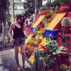 With #Frida and her cactus @nybg #inspo #inspiration #icon #FridaKahlo #botanicalgarden #escape #colors #nature #CasaAzul