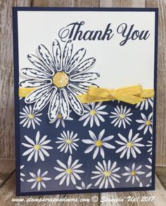 Delightful Daisy Designer Series Paper, Daisy Delight stamp set and co-ordinating Punch.