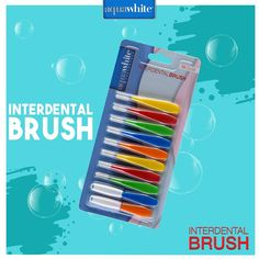 aquawhite Interdental Brush helps remove plaque from braces, dental bridges, and tight spaces between the teeth. It is designed to reach the smallest spaces, thereby giving an effective cleaning to teeth and keeping them healthy.
