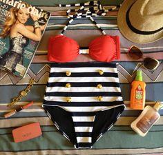Hottie High Waisted Bikini by kkoutureboutique on Etsy