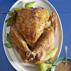 The Thanksgiving turkey rub on this sweet and savory bird doubles as a dry brine. While sitting in the refrigerator, it infuses the bird with the classic flavors of maple and sage. Finish the bird with a sweet and spicy maple-chipotle turkey glaze. Thanksgiving Turkey, Thanksgiving Recipes, Holiday Recipes, Bhg Recipes, November Thanksgiving, Recipies, Dinner Recipes, Cooking A Stuffed Turkey, Turkey Rub