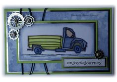 Male truck card, chronology paper, die cut cogs, tim holtz sentiment
