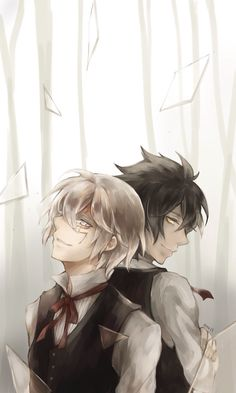 """Neah and Allen from """"D.Gray-man.""""  This is one of my favorite arts I've seen of them."""