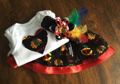 A personal favorite from my Etsy shop https://www.etsy.com/listing/264741585/chicago-blackhawks-outfit