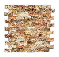 Scabos 1 X 2 Split-Faced Travertine Brick Mosaic Tile - 6 X 6 Sample - Marble Tiles - Amazon.com