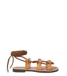 91c0526f0a0 ShopBazaar Preekka Tan Dree Sandal MAIN Designer Sandals