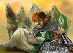 Merry and Theoden - colour by *TolmanCotton