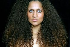 Long Ombre Kinky Naturally Curly Hair