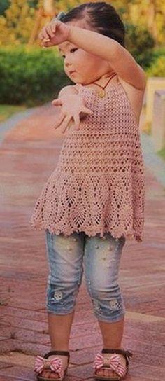 tunic for girls crocheted   make handmade, crochet, craft                                                                                                                                                                                 More
