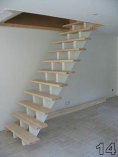 Garage Stairs, Tiny House Stairs, Attic Stairs, Spiral Stairs Design, Staircase Design, Escalier Art, Room Partition Designs, Tv Decor, Home Decor