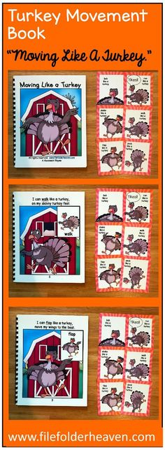 these turkey themed movement cards and book get your students moving and help