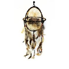 """20"""" Bear Dream Catcher Ball With Beads and Feathers"""