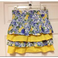 Summer floral apron
