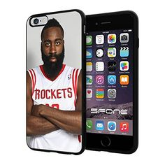 """NBA Basketball Player James Edward Harden, Jr. Houston Rockets, Cool iPhone 6 Plus (6+ , 5.5"""") Smartphone Case Cover Collector iphone TPU Rubber Case Black Phoneaholic http://www.amazon.com/dp/B00WFPP512/ref=cm_sw_r_pi_dp_ysNpvb14JRKS1"""