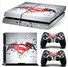 PS4 Skin & Controllers Skin Vinyl Sticker For PlayStation 4 Batman Vs Superman