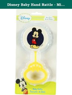 """Disney Baby Hand Rattle - Mickey Mouse - navy, one size. Fun rattle measures approx. 5 1/2"""" long. Officially licensed product."""