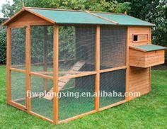 grande galinheiro de madeira com gaiola correr-Outros Produtos para Animais de…