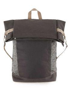 0ba2c13585 Grey Marl Flat Top Rucksack - Men s Bags - Shoes   Accessories. Rucksack Bag  ...