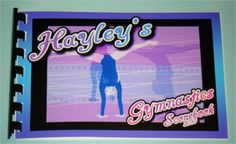 Personalized Womens GIRL GYMNASTICS  Score Book by Howddode, $10.00