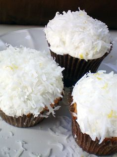 Make these Coconut Lemon Cupcakes for dessert.