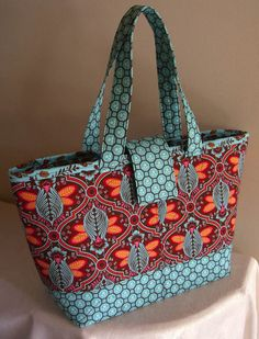 70ab7412b352 Quilt Market  Miranda Featured In  Flutterby  From Moda Fabrics. Quilted  Tote BagsPatchwork BagsFabric Tote BagsPurse ...