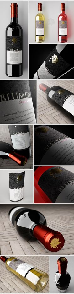 Blumen Wine labels