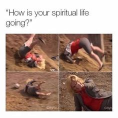 Funny Memes Today How Is Your Spiritual Life Going? 9gag Funny, Funny Relatable Memes, Funny Texts, Funny Jokes, Hilarious, Love Memes Funny, Church Memes, Catholic Memes, Funny Christian Memes