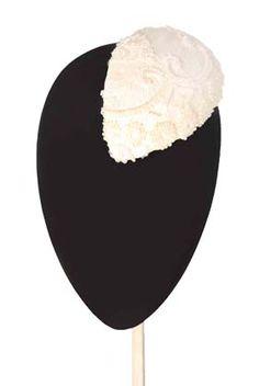 Tocado blanco colección Novias mimoki