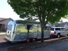 1963 Streamline Duchess - Stayton, OR Camper Trailer For Sale, Vintage Campers Trailers, Camper Trailers, Vintage Trailer Supply, Fabric Awning, Formica Countertops, Pink Baths, Window Awnings, New Toilet