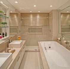 Armário para banheiro: 60 modelos para organizar e decorar (FOTOS)