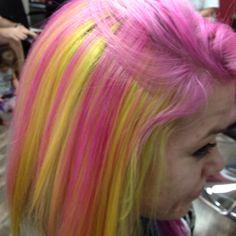 16 Ideas nails yellow purple hair colors for 2019 Yellow Hair Color, Cool Hair Color, Purple Yellow, Purple Hair, Hair Colors, Creative Hairstyles, Cool Hairstyles, White Shellac, Flame Hair