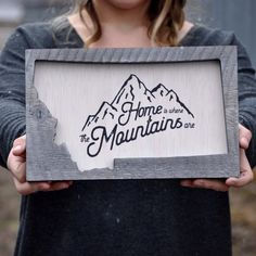Home is Where the Mountains are Wall Hanging