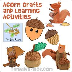 Acorn Crafts and Learning Activities for Children from www.daniellesplace.com