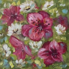 """Daily Paintworks - """"Waiting For The Alstromeria"""" by Bobbie Koelsch"""