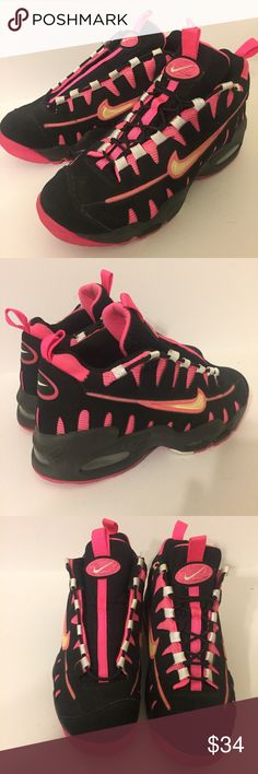on sale f33c4 52418 Nike Air Max Nomo Black Pink 7y Womens 8.5 Nike Air Max hideo Nomo in black