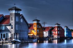 Reitdiephaven in Groningen, The Netherlands. Made this picture myself. #Groningen #HDR #Reitdiephaven