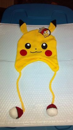 Loot Crate Exclusive  September 2015 Pokemon Pikachu Yellow Hat  New! #Unbranded