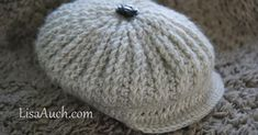 Free Crochet Newborn Hat Pattern perfect for a boy. Crochet this delightful ribbed, crochet hat with brim for your little man. adult size