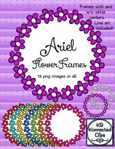 Ariel Doodle Flower Frames $ https://www.teacherspayteachers.com/Product/Ariel-Doodle-Flower-Frames-1768363