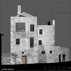 Stone House Transformation in Scaiano,North-west Elevation