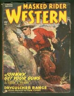 MASKED RIDER WESTERN, Pulp magazine. December, 1948. >> Wayne Morgan as the Masker Ride in