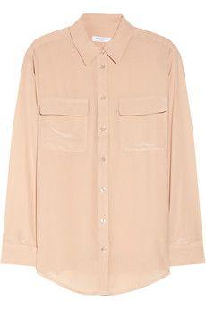 Equipment Signature washed-silk shirt | NET-A-PORTER
