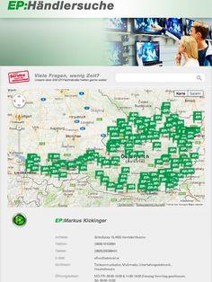 EP:Austria || Händlersuche || eigene Händlersuche funtkioniert über PLZ, Ort, Name || Verschiedene Informationen über den Händler aufrufbar || Google Maps || individuell erweiterbar Apps, Facebook, Google, Augsburg, Places, App